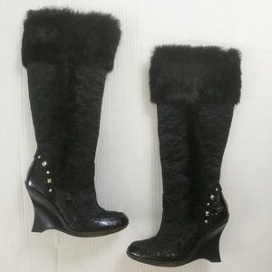 Baby Phat Knee High Boots EUC Size 7